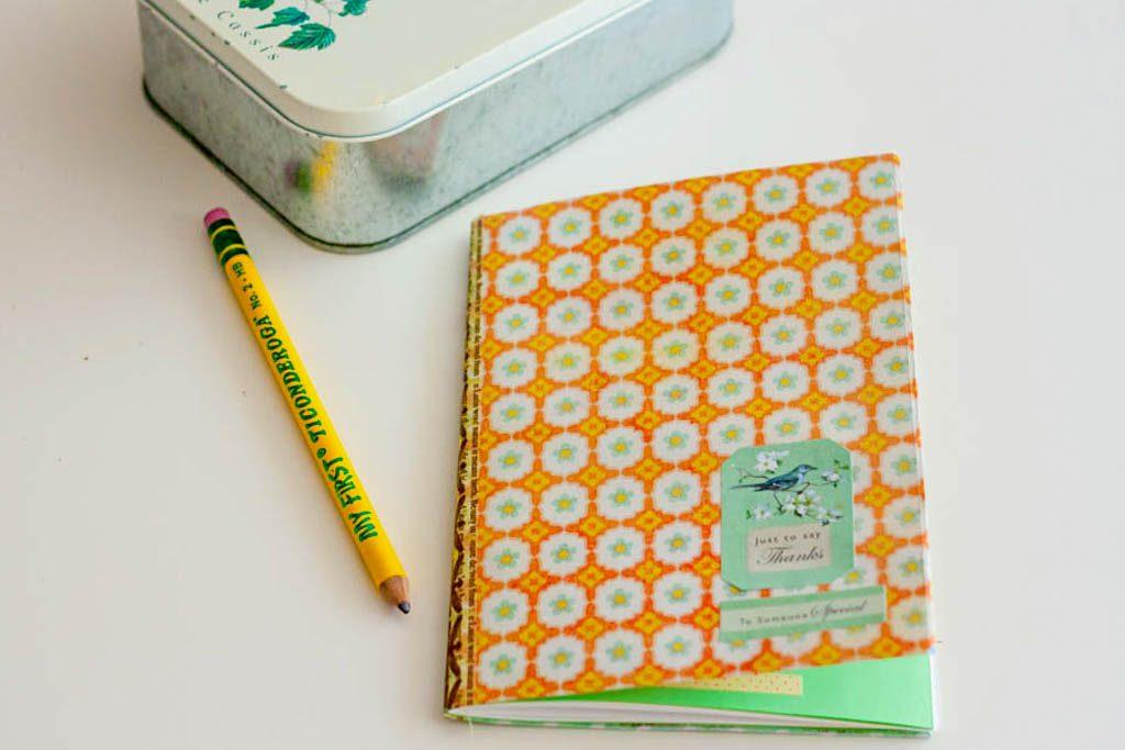 hacer un cuaderno en casa
