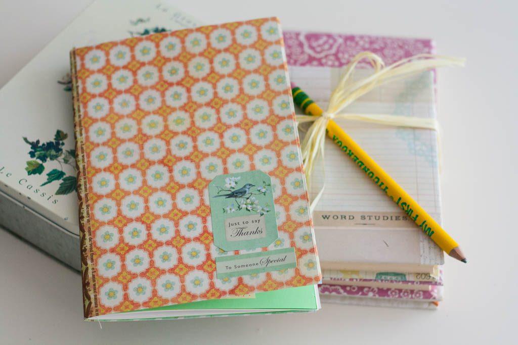 cuaderno hecho en casa para regalar