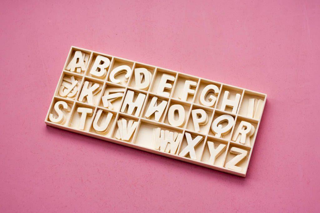letras de madera