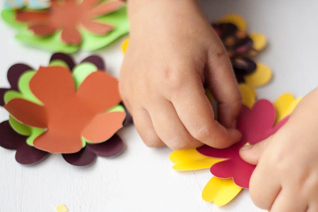 cinta de doble cara para unir las flores