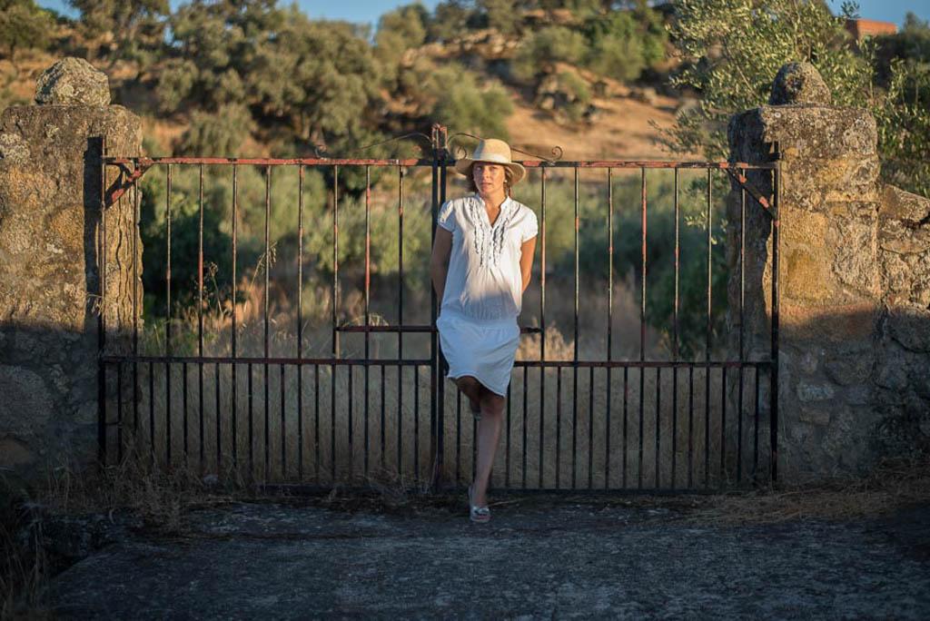 Patricia Martin en la valla
