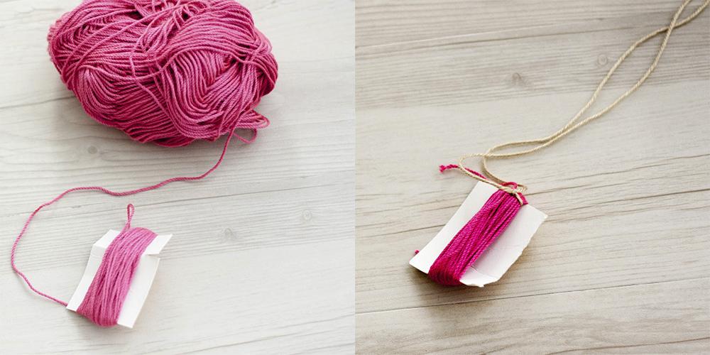 Como hacer borla de lana