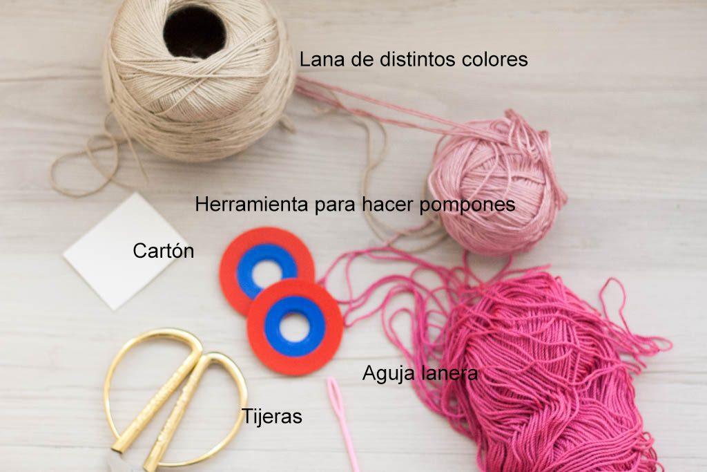 materiales para hacer pompones