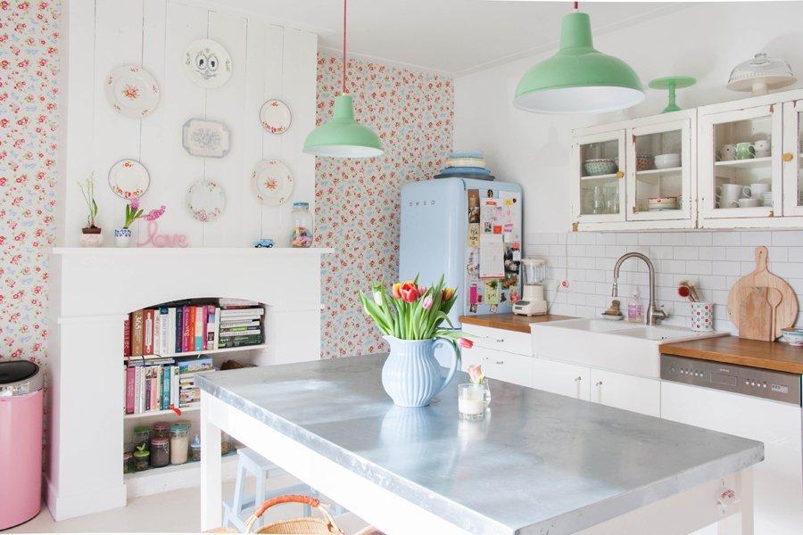 casa nordica en tonos pastel