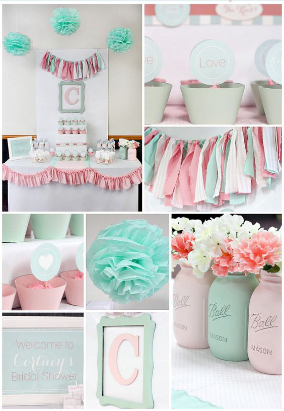6 ideas para organizar un baby shower decoracion mesa for Decoracion para pared de baby shower
