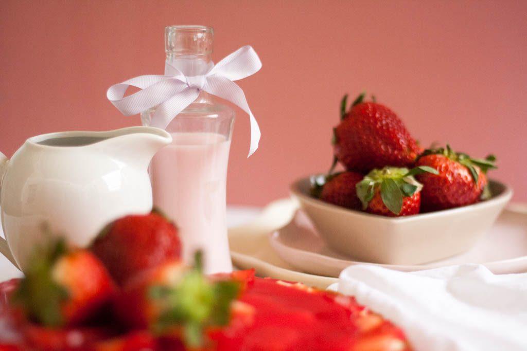 postre de fresas