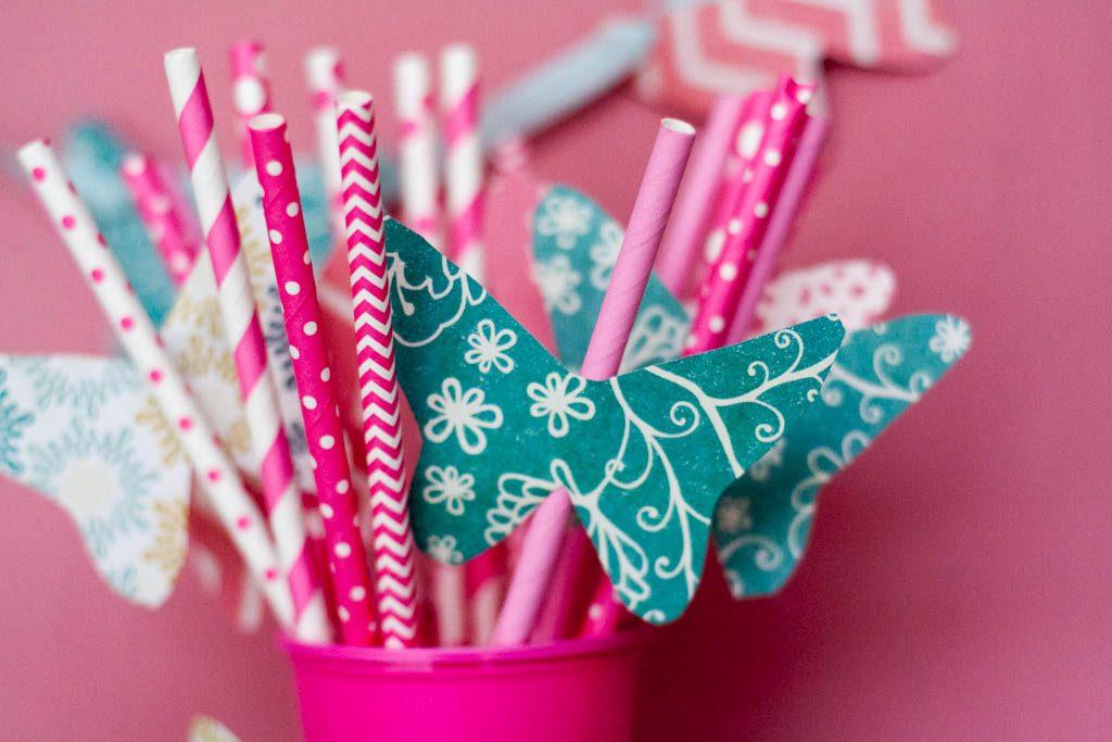 ideas para cumpleaños: pajitas