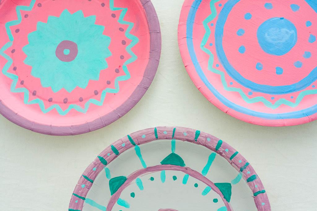 Manualidades para el dia de la madre platos de papel - Papel decorado manualidades ...