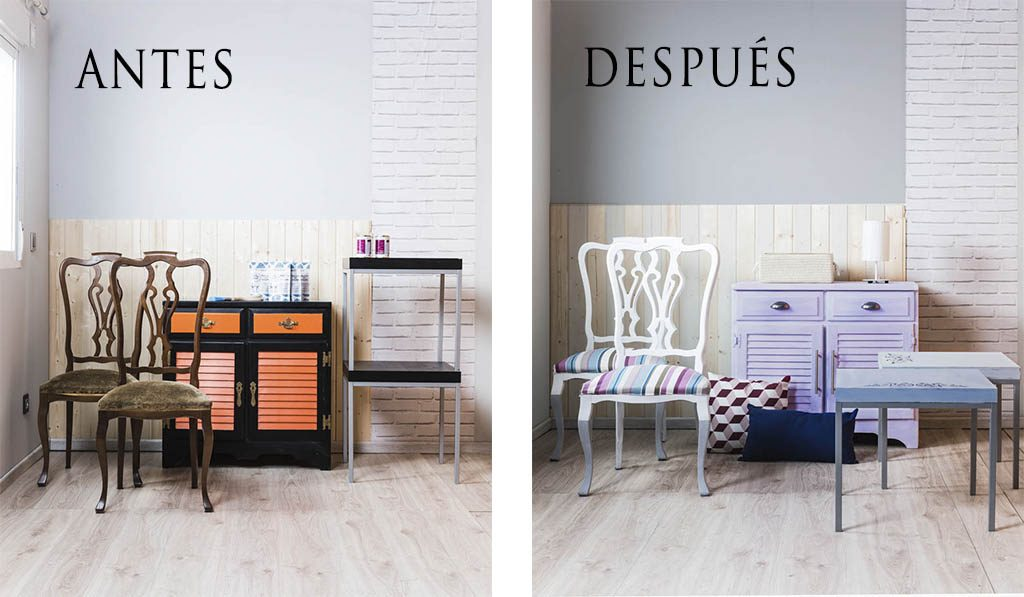 transformar muebles con milk paint