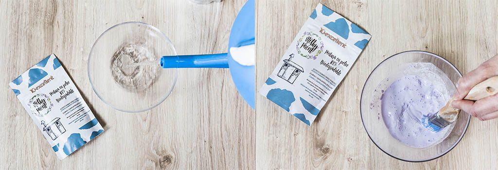 mezclar milk paint