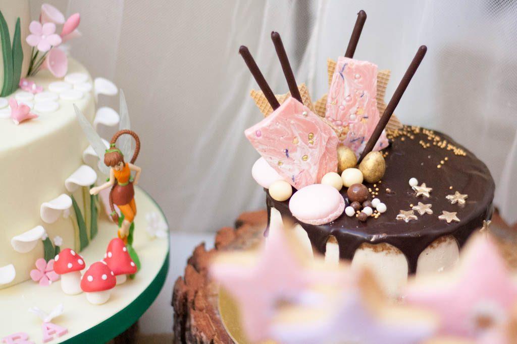 tarta para fiesta de hadas