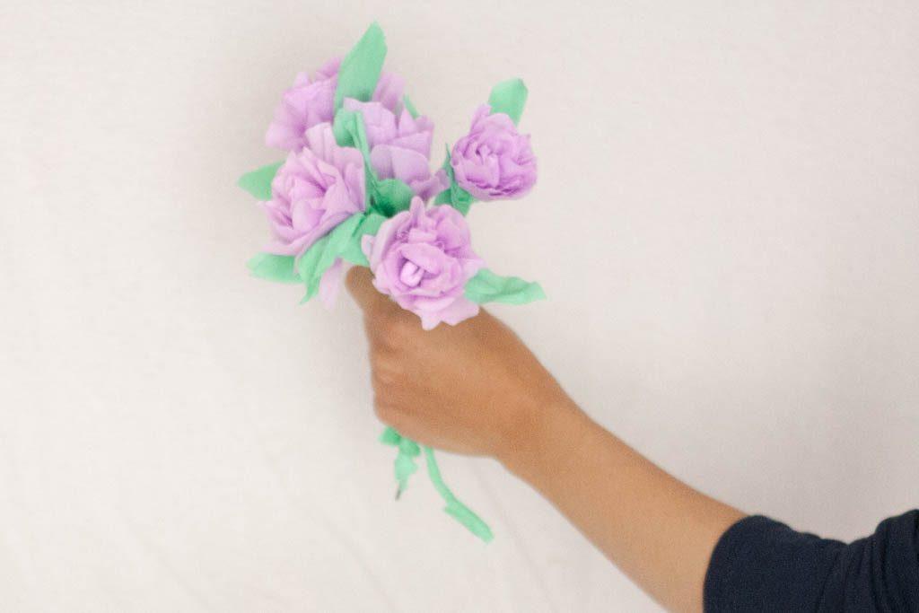 flores de papel para el dia de la madre