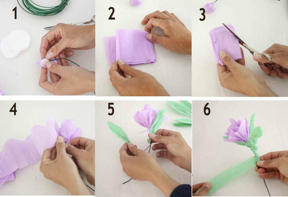 Manualidades faciles para el dia de la madre flores de papel for Manualidades con palets paso a paso