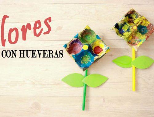 flores hechas con hueveras