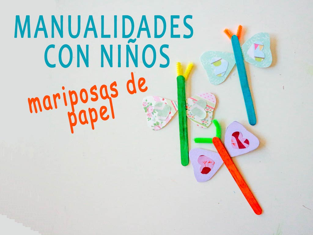 manualidades con niños: mariposas de papel
