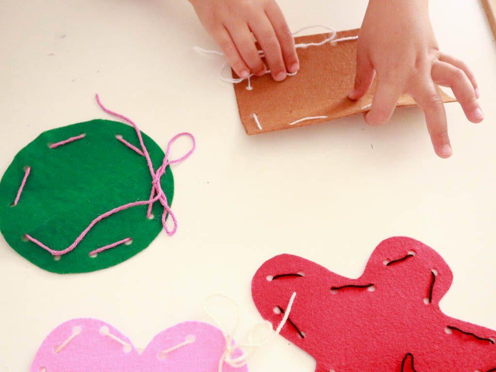 Actividades Con Niños Aprender A Coser Con Lana Y Fieltro