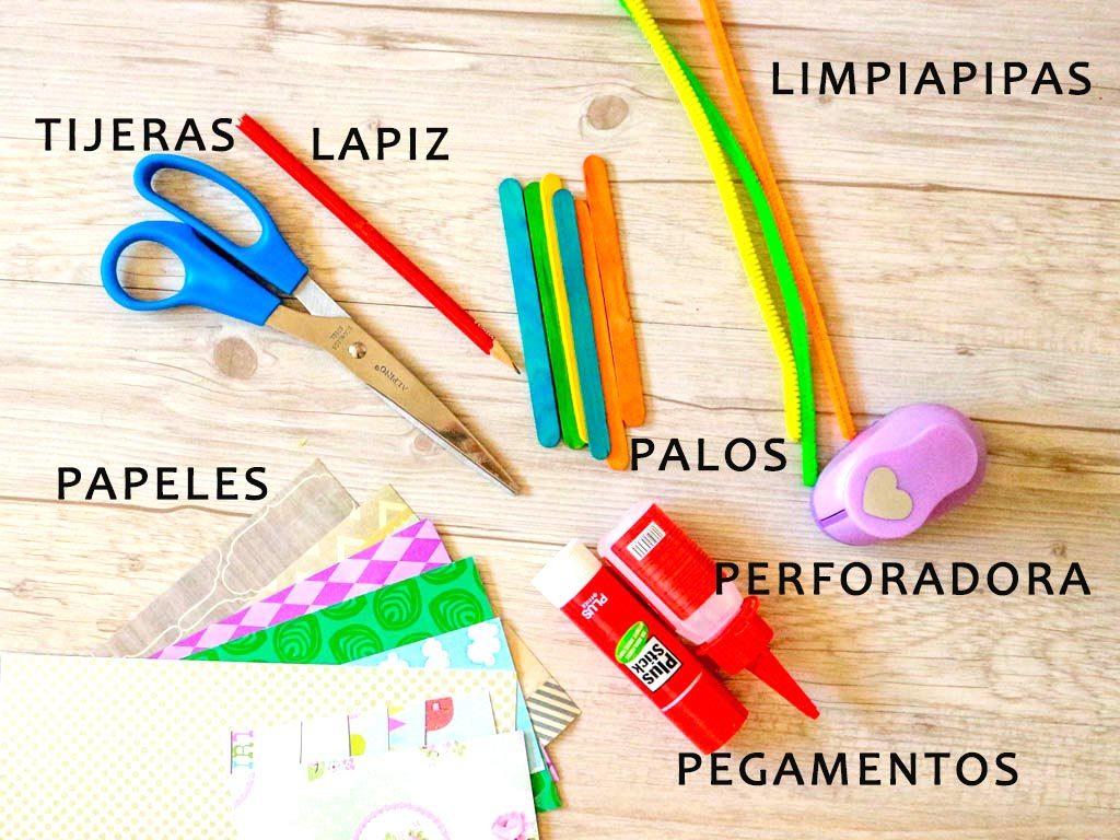 materiales para actividades con niños