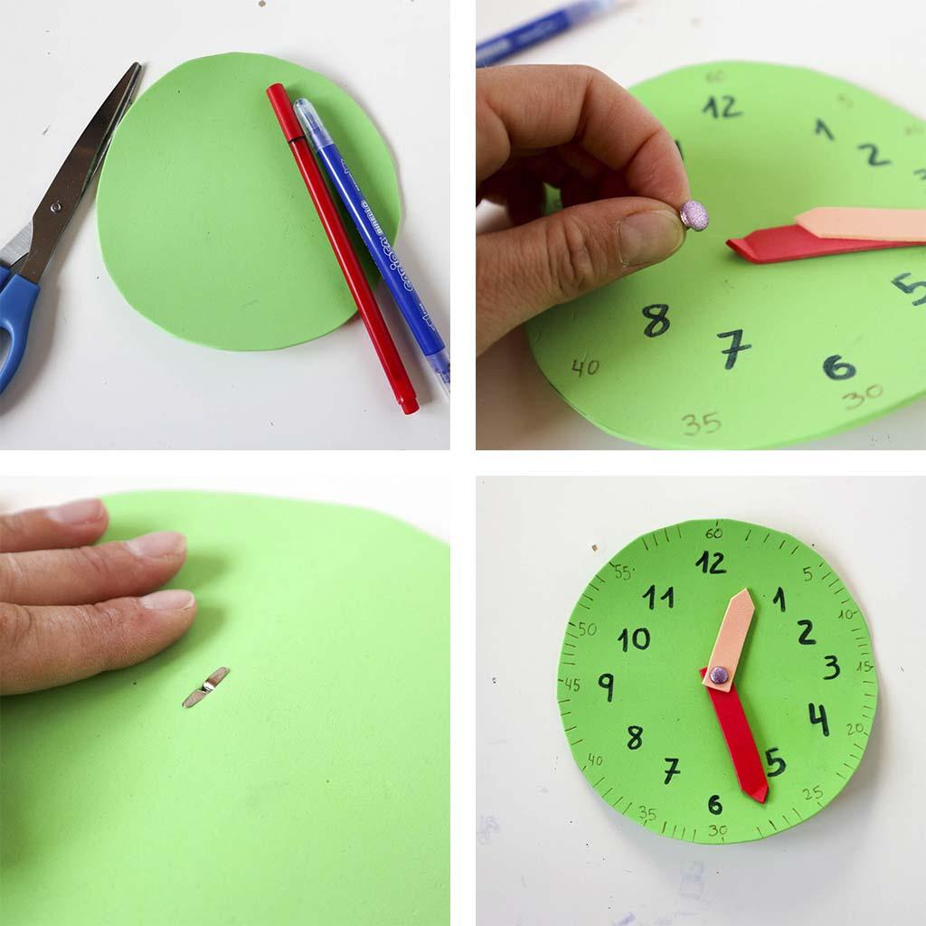 Como hacer un reloj para parender las horas diy en casa - Hacer un reloj de pared ...