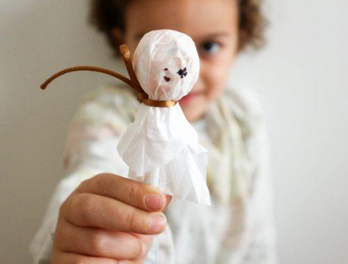 fantasma hecho con un chupachups