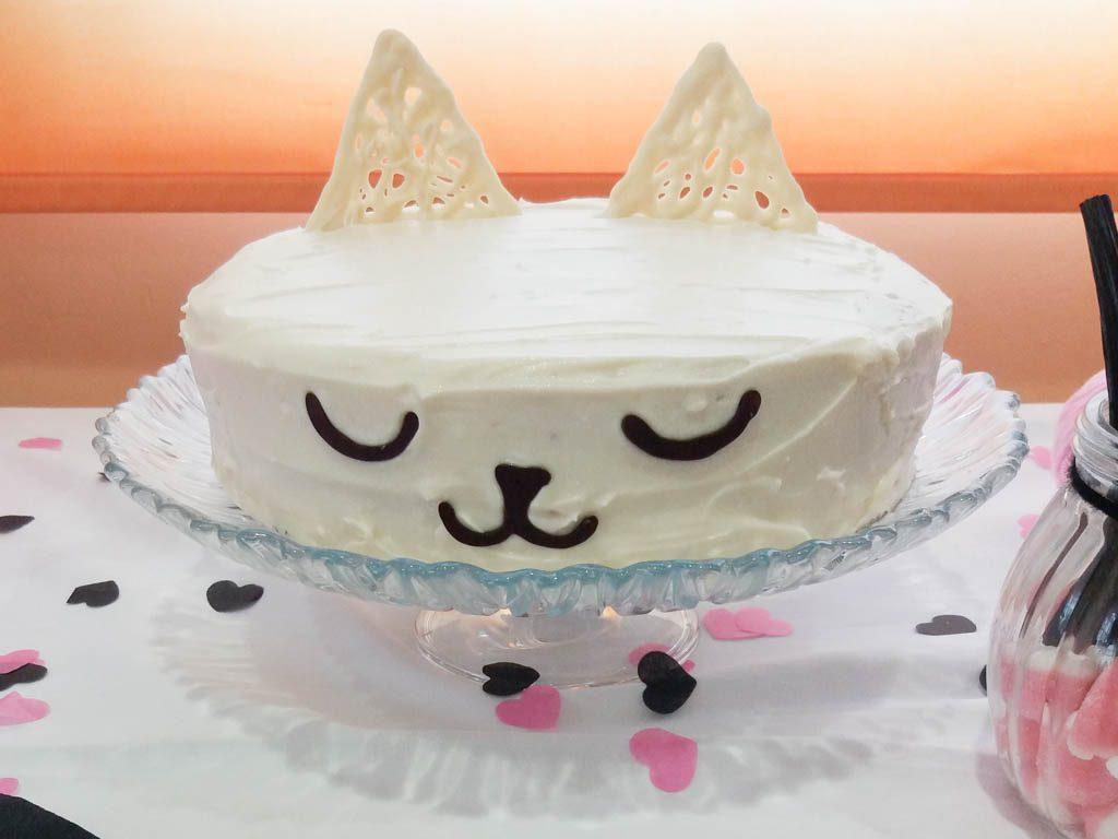 tarta con cara de gato