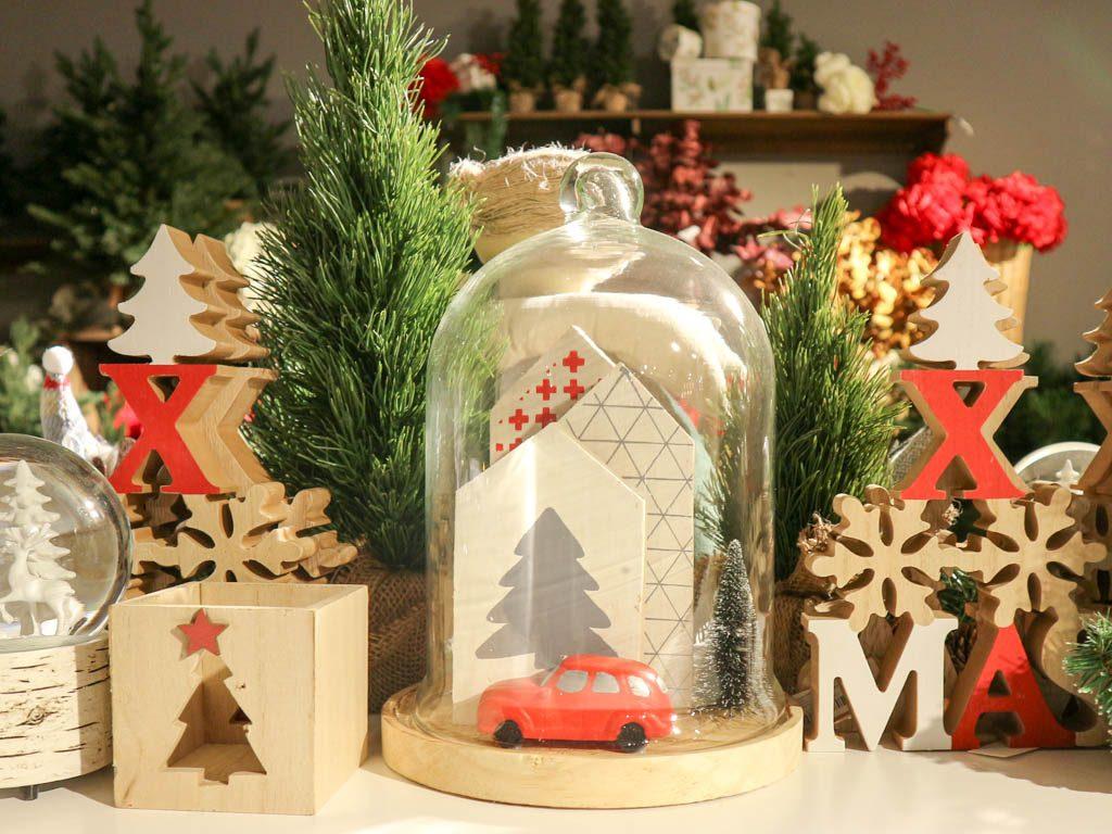 adornos navideños inspirados en el bosque