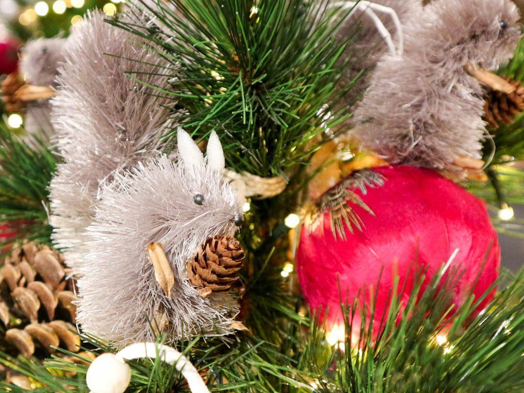 detalle de un arbol de navidad