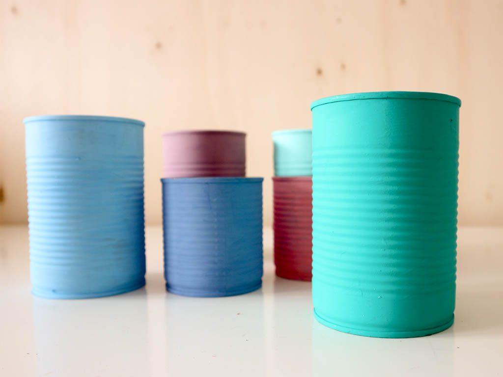 juegos reciclados con latas