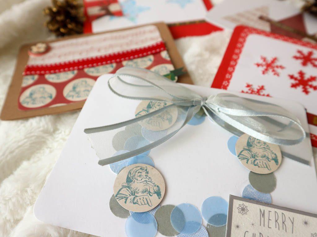 distintas tarjetas hechas a mano