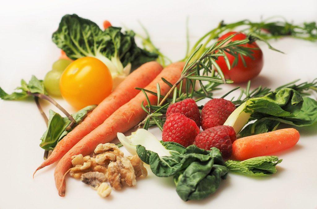 frutas, verduras y dieta saludable