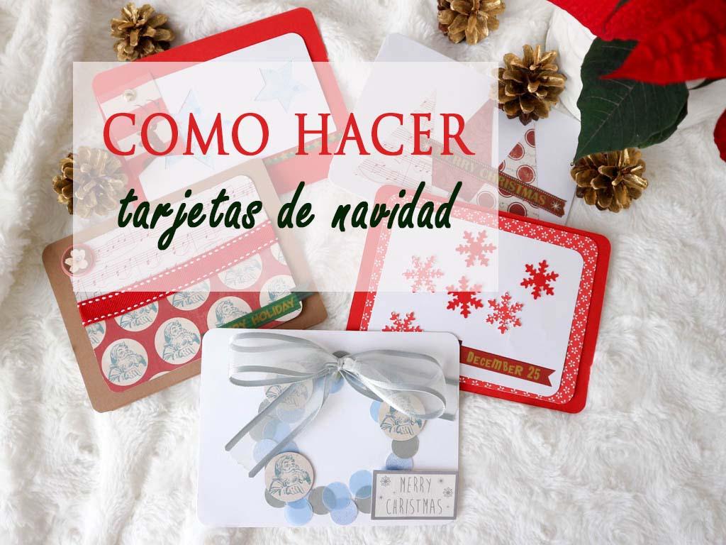 Como hacer una tarjeta de navidad diy de manera sencilla for Crear tarjetas de navidad