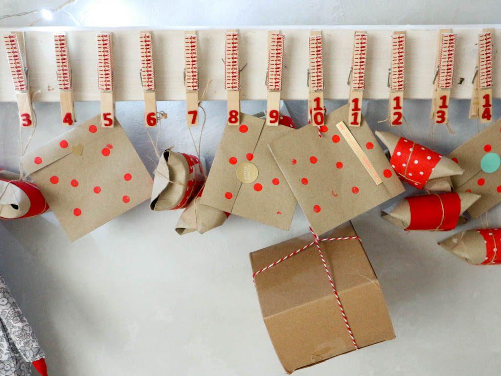cajas en calendario de adviento