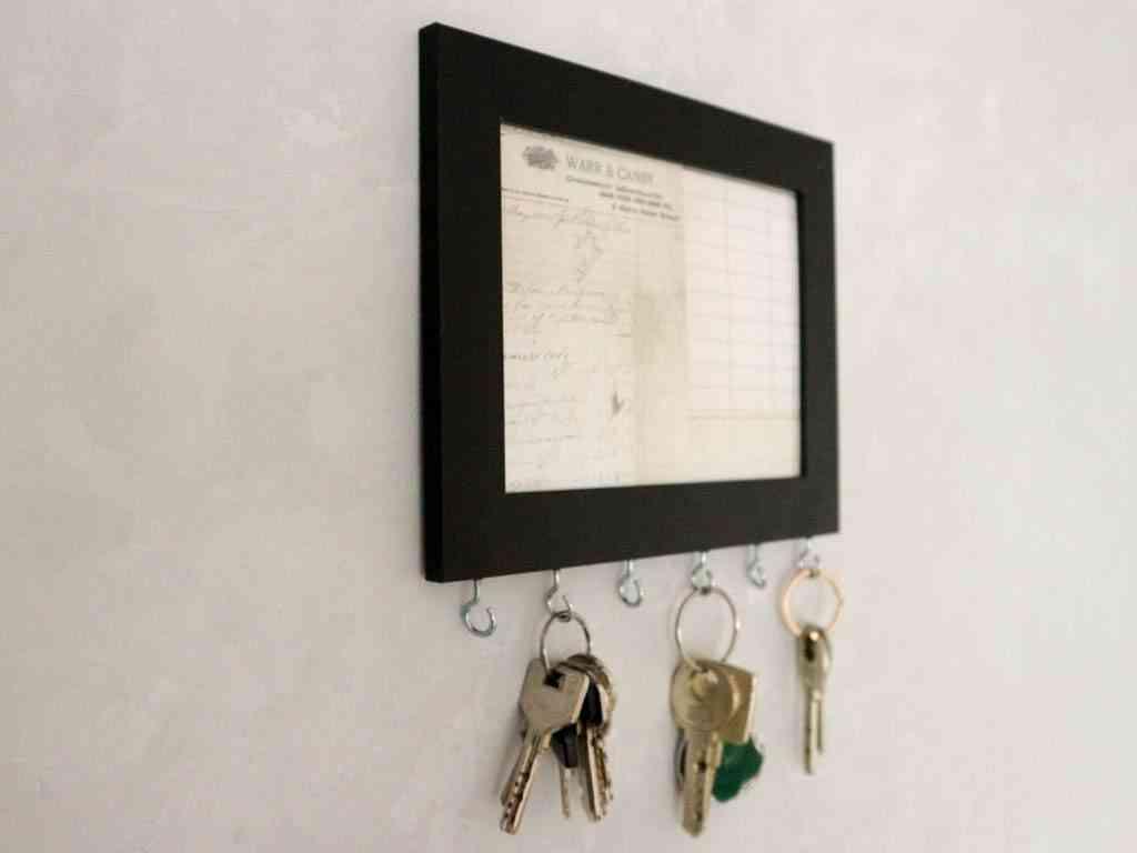 como hacer un sencillo organizador de llaves