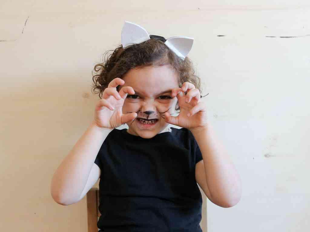 maquillaje de gato para niñas