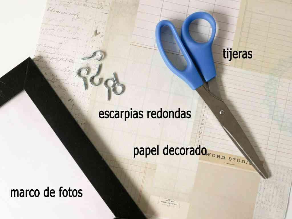 materiales para hacer organizador de llaves