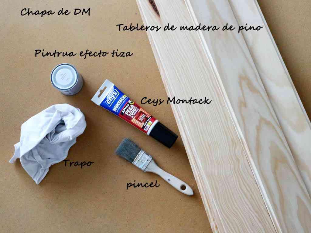 materiales para hacer cabecero de madera de estilo nórdico