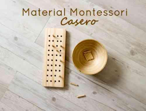 material montessori casero