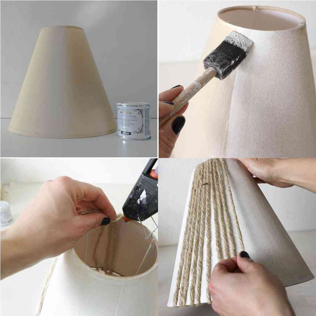 paso a paso como forrar una pantalla de lampara
