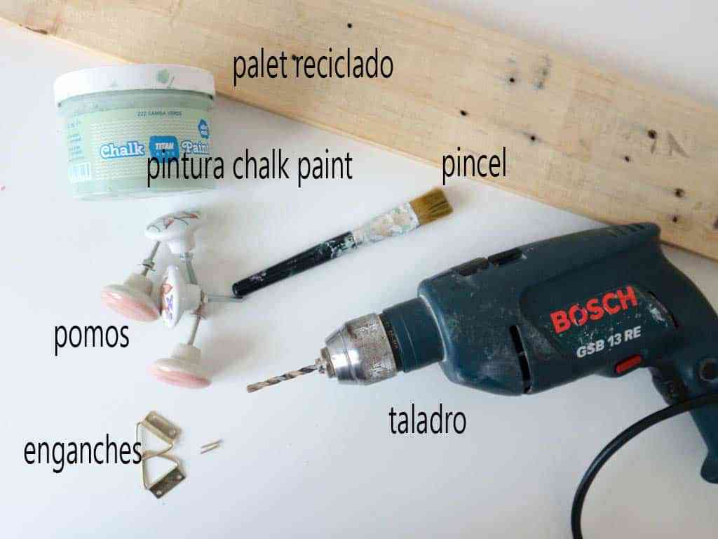 materiales para hacer perchero de pared