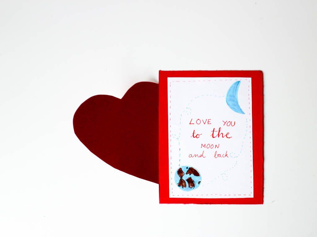 tarjetas para san valetin hechas  a mano