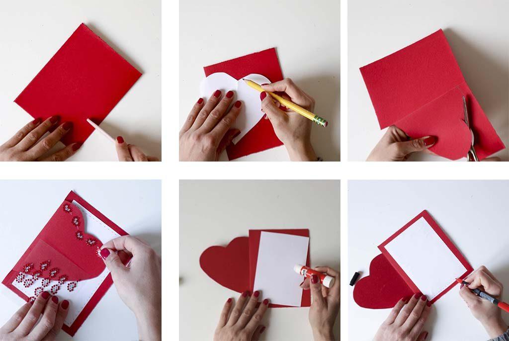 paso a paso tarjetas de san valentin