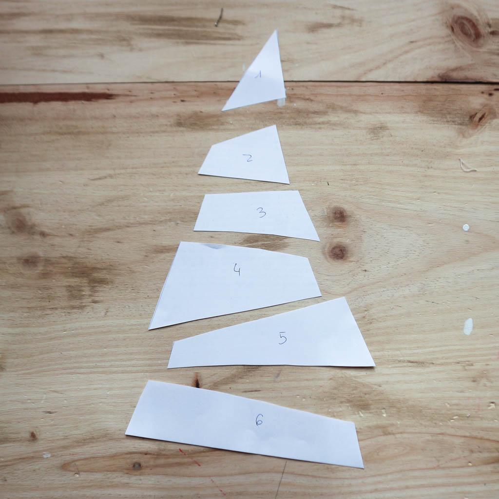 divide el triangulo en 6 partes
