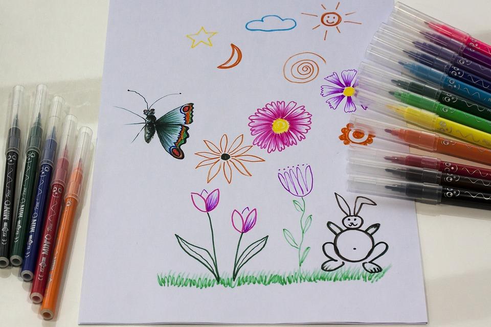 rotuladores y dibujo
