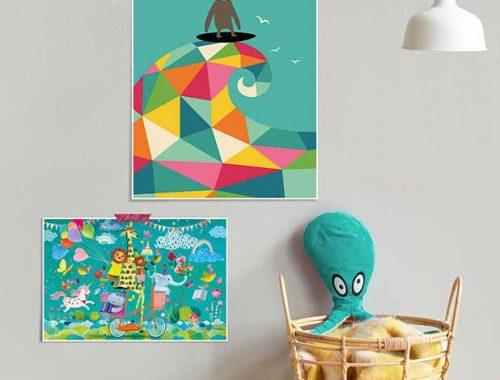 laminas para decorar cuarto infantil
